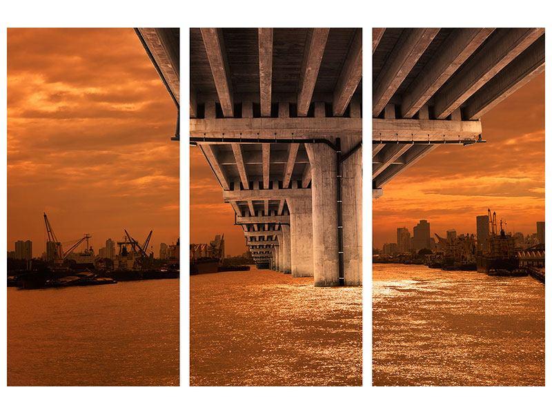 Hartschaumbild 3-teilig Die Brücke