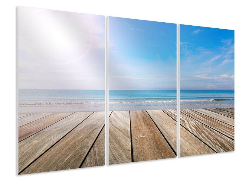 Hartschaumbild 3-teilig Das schöne Strandhaus
