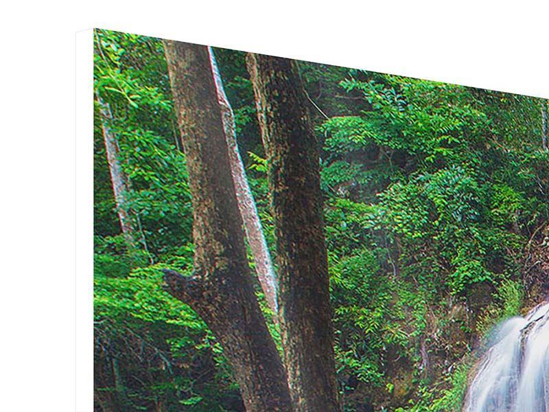 Hartschaumbild 3-teilig Naturerlebnis Wasserfall