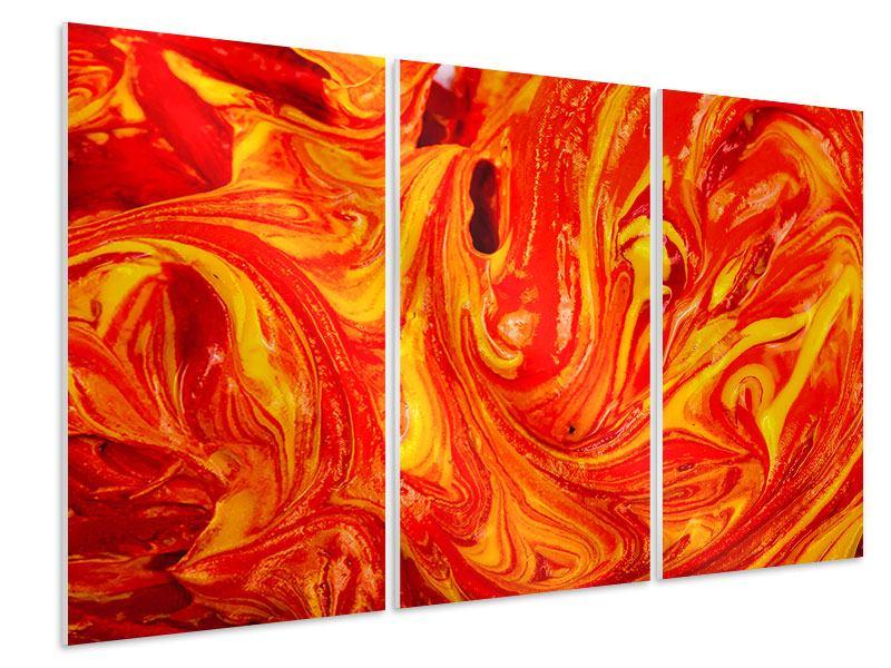 Hartschaumbild 3-teilig Wandgemälde
