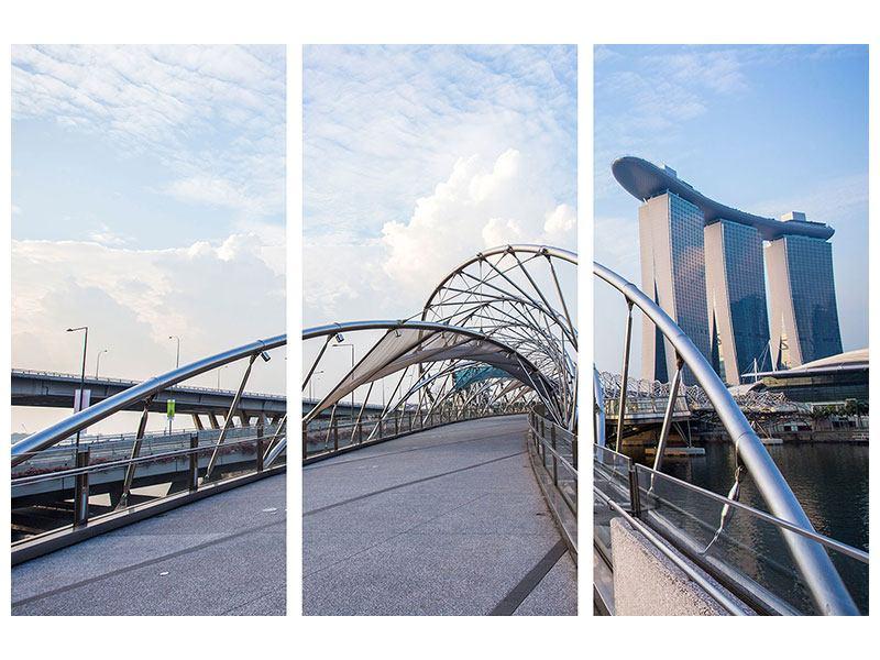 Hartschaumbild 3-teilig Helix-Brücke