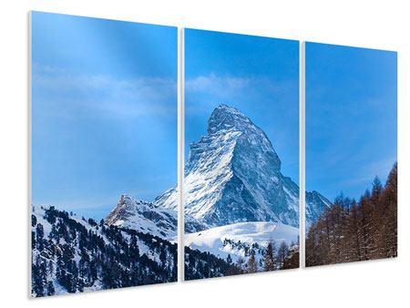 Hartschaumbild 3-teilig Das majestätische Matterhorn