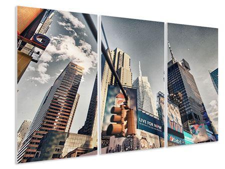 Hartschaumbild 3-teilig Times Square
