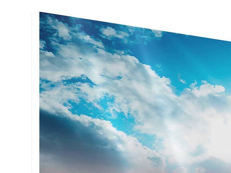 Hartschaumbild 3-teilig Skyline Über den Dächern von Manhattan