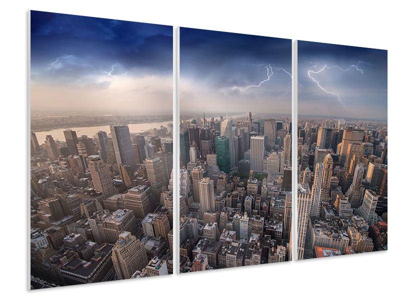 Hartschaumbild 3-teilig Manhattan