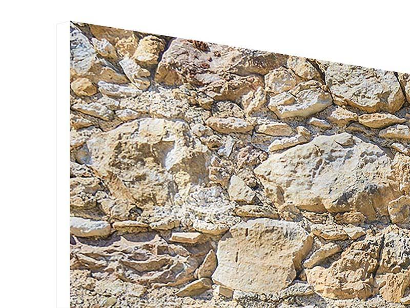 Hartschaumbild 3-teilig Sandsteinmauer