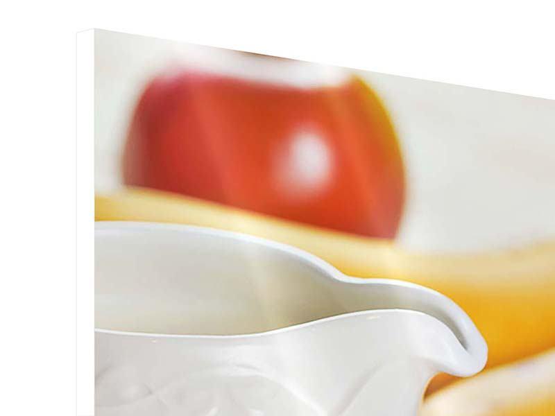 Hartschaumbild 3-teilig Frühstück