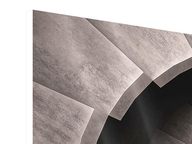 Hartschaumbild 3-teilig Steinwendeltreppe