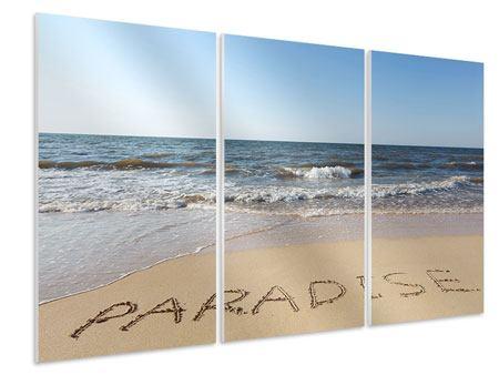 Hartschaumbild 3-teilig Sandspuren