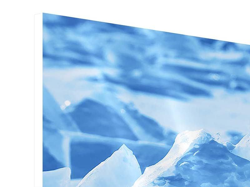 Hartschaumbild 3-teilig Eis des Baikalsees