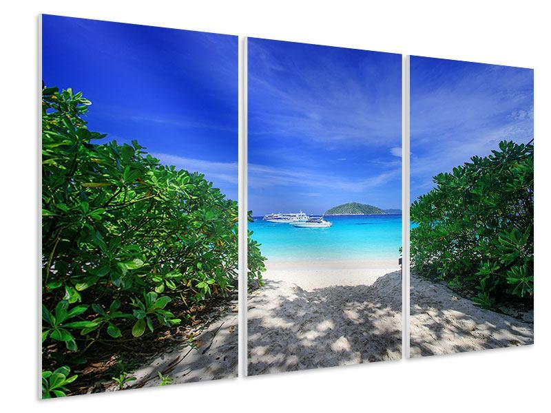 Hartschaumbild 3-teilig Similan-Inseln