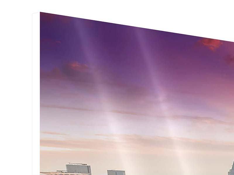 Hartschaumbild 3-teilig Skyline Penthouse in New York