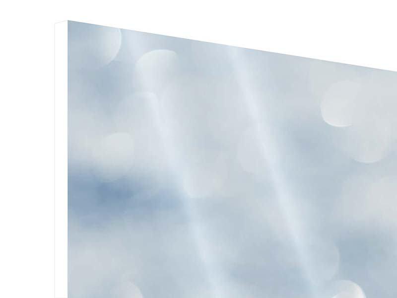 Hartschaumbild 3-teilig Kristallglanz