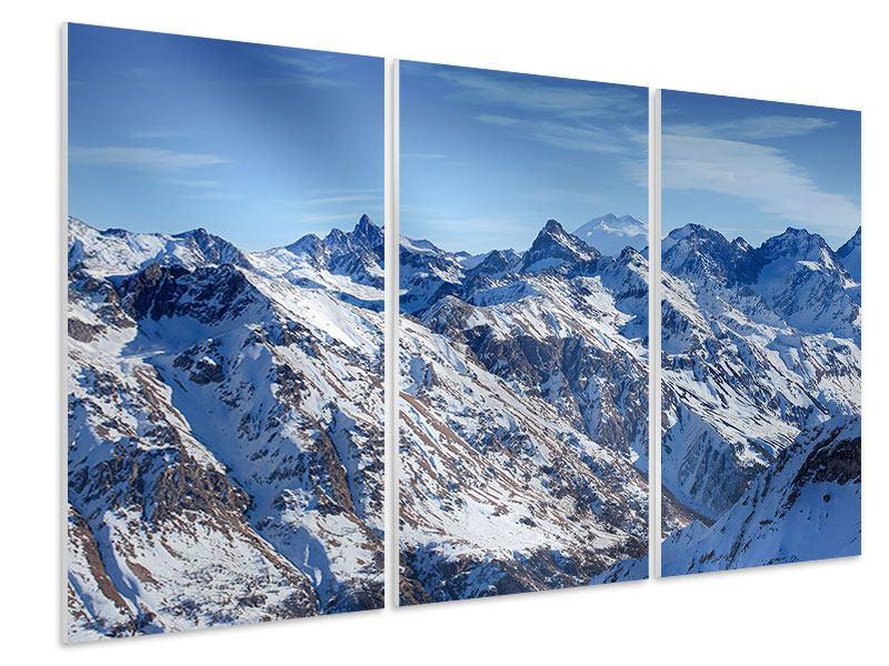 Hartschaumbild 3-teilig Gipfelspitzen