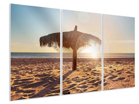Hartschaumbild 3-teilig Der Sonnenschirm