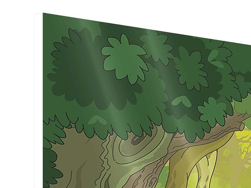 Hartschaumbild 3-teilig Der Märchenwald