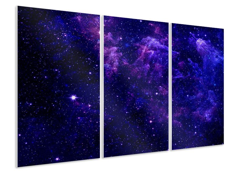 Hartschaumbild 3-teilig Ein Himmel voll Sterne