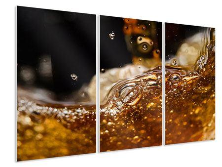 Hartschaumbild 3-teilig Cognac