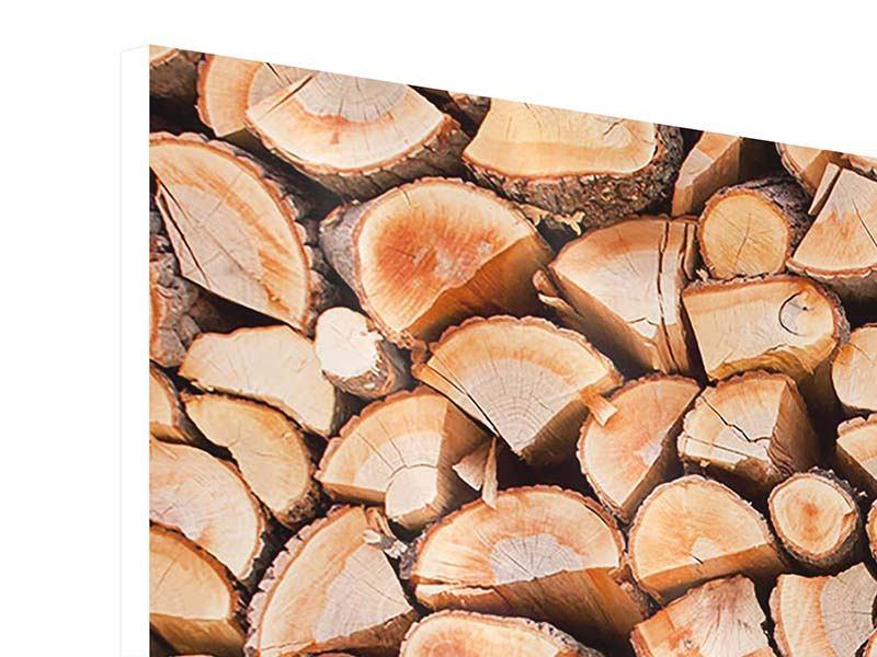 Hartschaumbild 3-teilig Birkenstapel