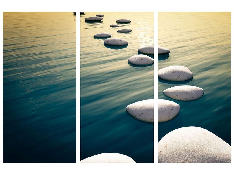 Hartschaumbild 3-teilig Der Weg ist das Ziel