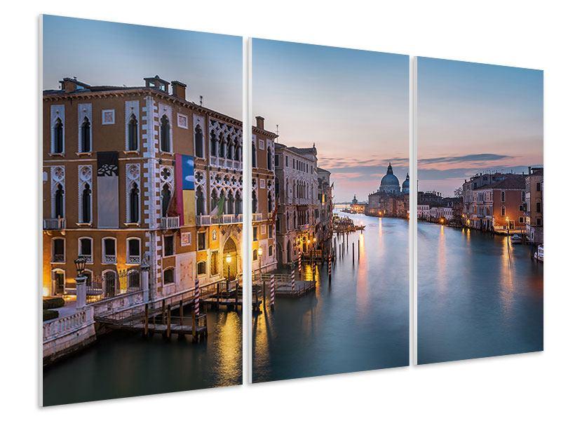 Hartschaumbild 3-teilig Romantisches Venedig