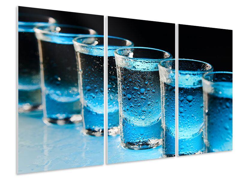 Hartschaumbild 3-teilig Wodka Pur
