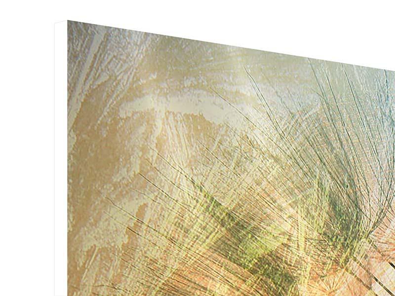 Panorama Hartschaumbild 3-teilig XXL Pusteblume