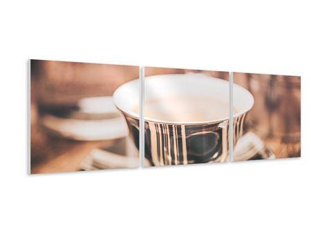 Panorama Hartschaumbild 3-teilig Der Kaffee ist fertig
