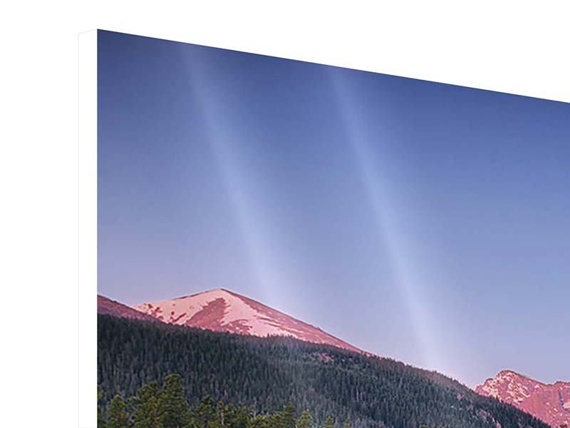 Panorama Hartschaumbild 3-teilig Sprague Lake-Rocky Mountains