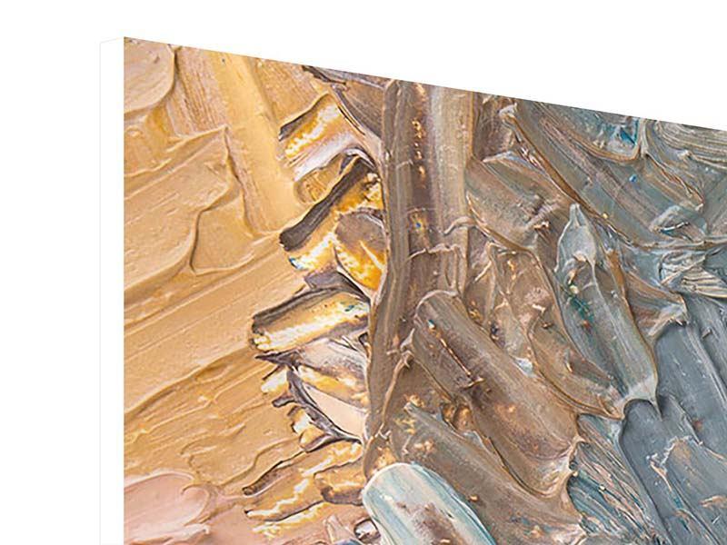 Panorama Hartschaumbild 3-teilig Ölgemälde
