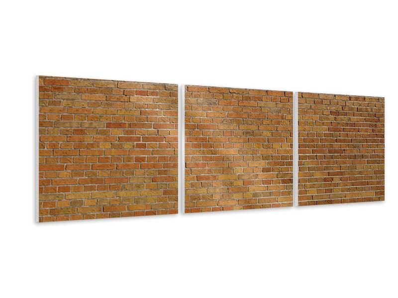 Panorama Hartschaumbild 3-teilig Backsteinhintergrund