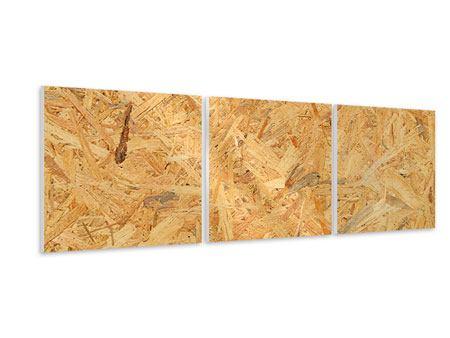 Panorama Hartschaumbild 3-teilig Gepresstes Holz