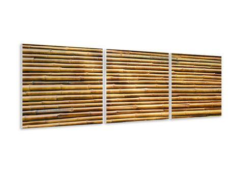 Panorama Hartschaumbild 3-teilig Bambus