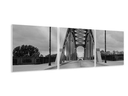 Panorama Hartschaumbild 3-teilig Poetische Brücke