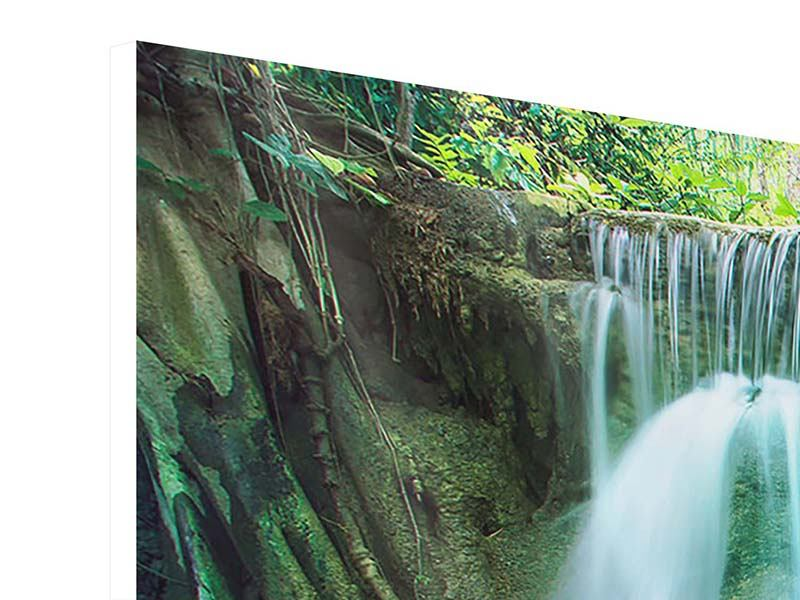 Panorama Hartschaumbild 3-teilig Im Paradies