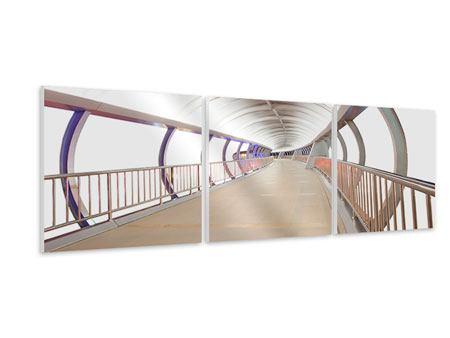 Panorama Hartschaumbild 3-teilig Brückenfeeling