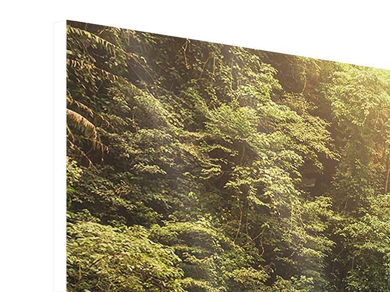 Panorama Hartschaumbild 3-teilig Wasserfall Bali