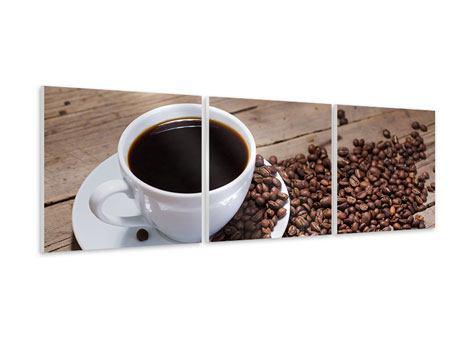 Panorama Hartschaumbild 3-teilig Coffee