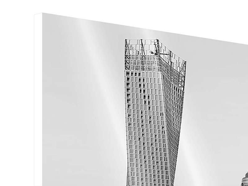 Panorama Hartschaumbild 3-teilig Majestätische Wolkenkratzer in Dubai