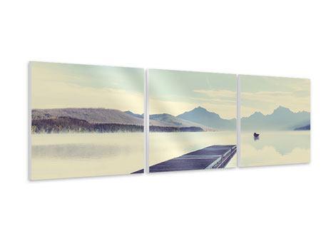 Panorama Hartschaumbild 3-teilig Bergromantik