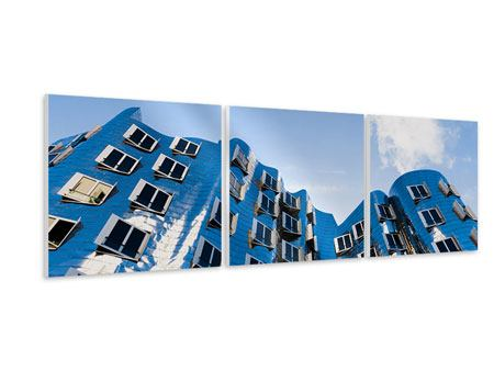 Panorama Hartschaumbild 3-teilig Neuer Zollhof
