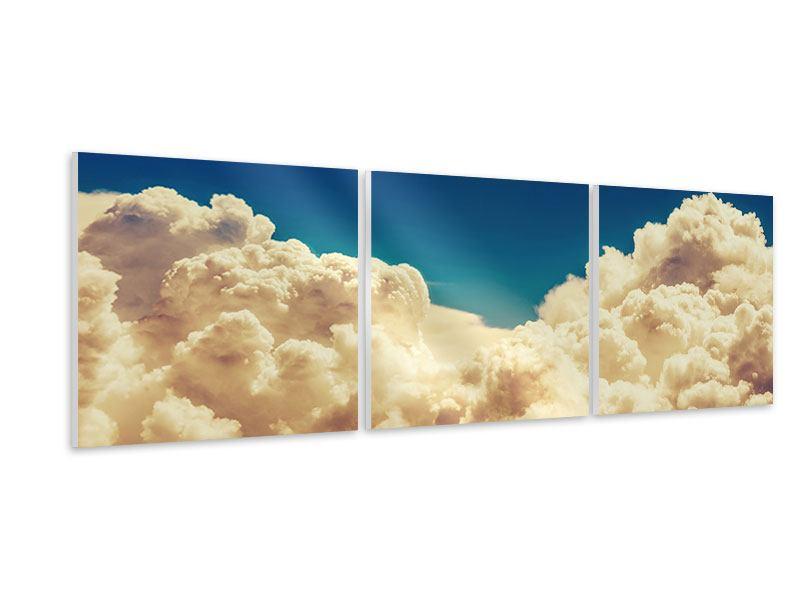 Panorama Hartschaumbild 3-teilig Himmelswolken