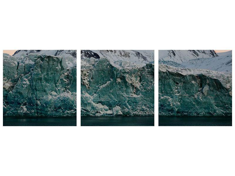 Panorama Hartschaumbild 3-teilig Die Antarktis