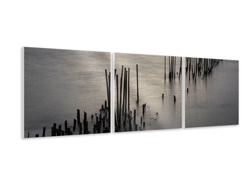 Panorama Hartschaumbild 3-teilig Das Meer und die Träne