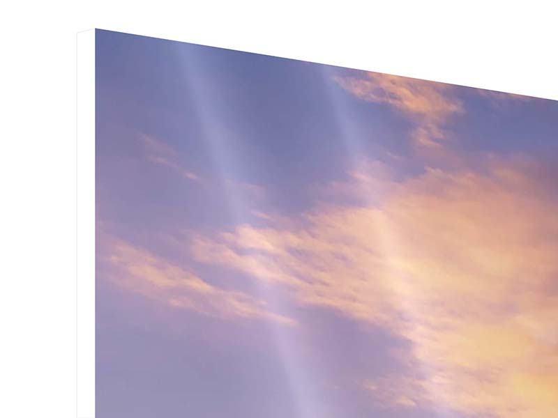 Panorama Hartschaumbild 3-teilig Himmlisch
