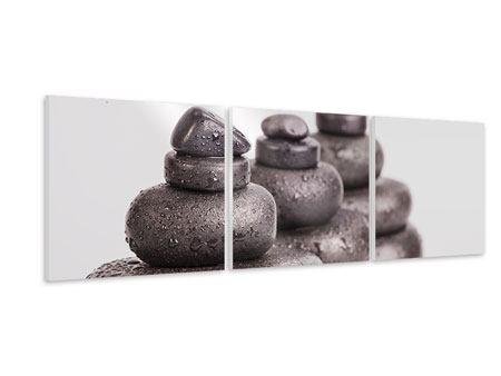 Panorama Hartschaumbild 3-teilig Die Kraft der Steine