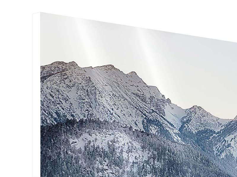 Panorama Hartschaumbild 3-teilig Schloss Neuschwanstein im Ammergebierge