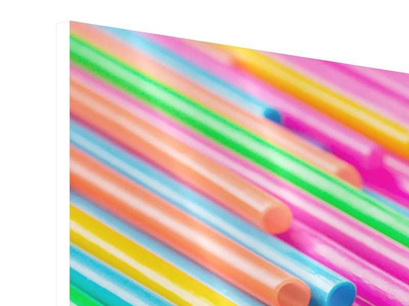 Panorama Hartschaumbild 3-teilig Pop Art