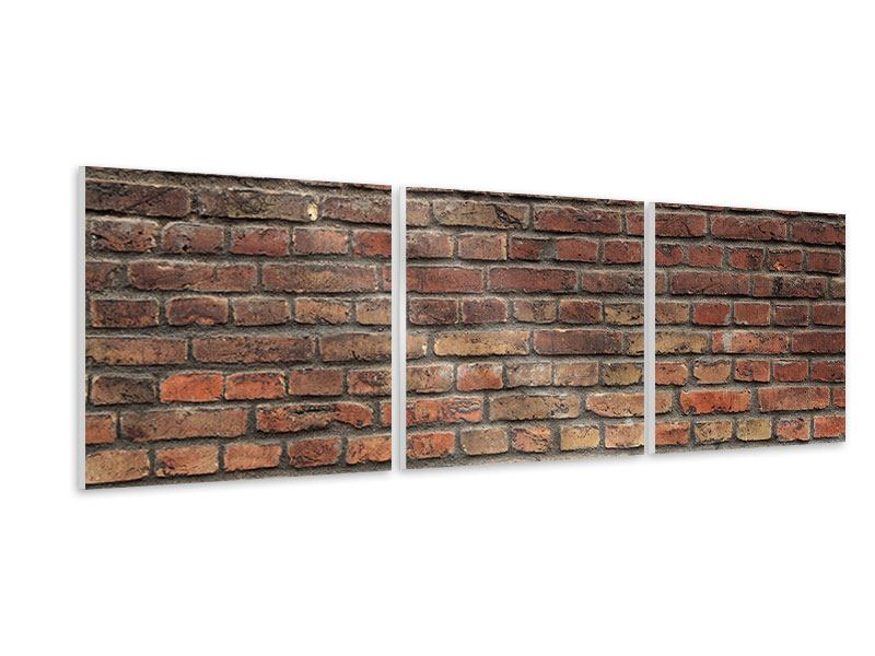 Panorama Hartschaumbild 3-teilig Brick Wall