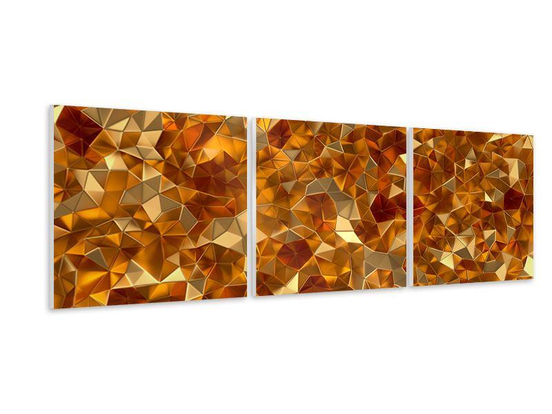 Panorama Hartschaumbild 3-teilig 3D-Bernsteine